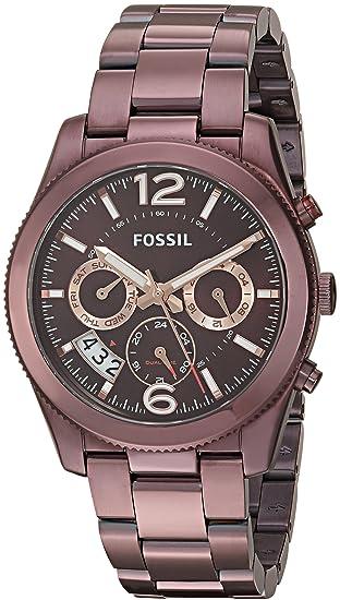Fossil Womens Perfect Boyfriend ES4110 Brown Stainless-Steel Analog Quartz Dress Watch: Fossil: Amazon.es: Relojes