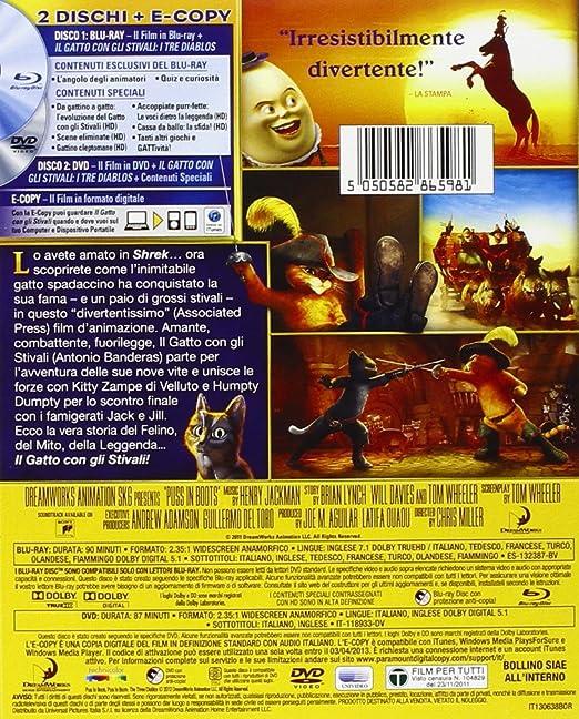 Amazon.com: Il Gatto Con Gli Stivali (Blu-Ray+Dvd+E-Copy): animazione, chris miller: Movies & TV