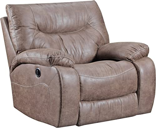 Simmons Upholstery Topgun Saddle Rocker Recliner Brown