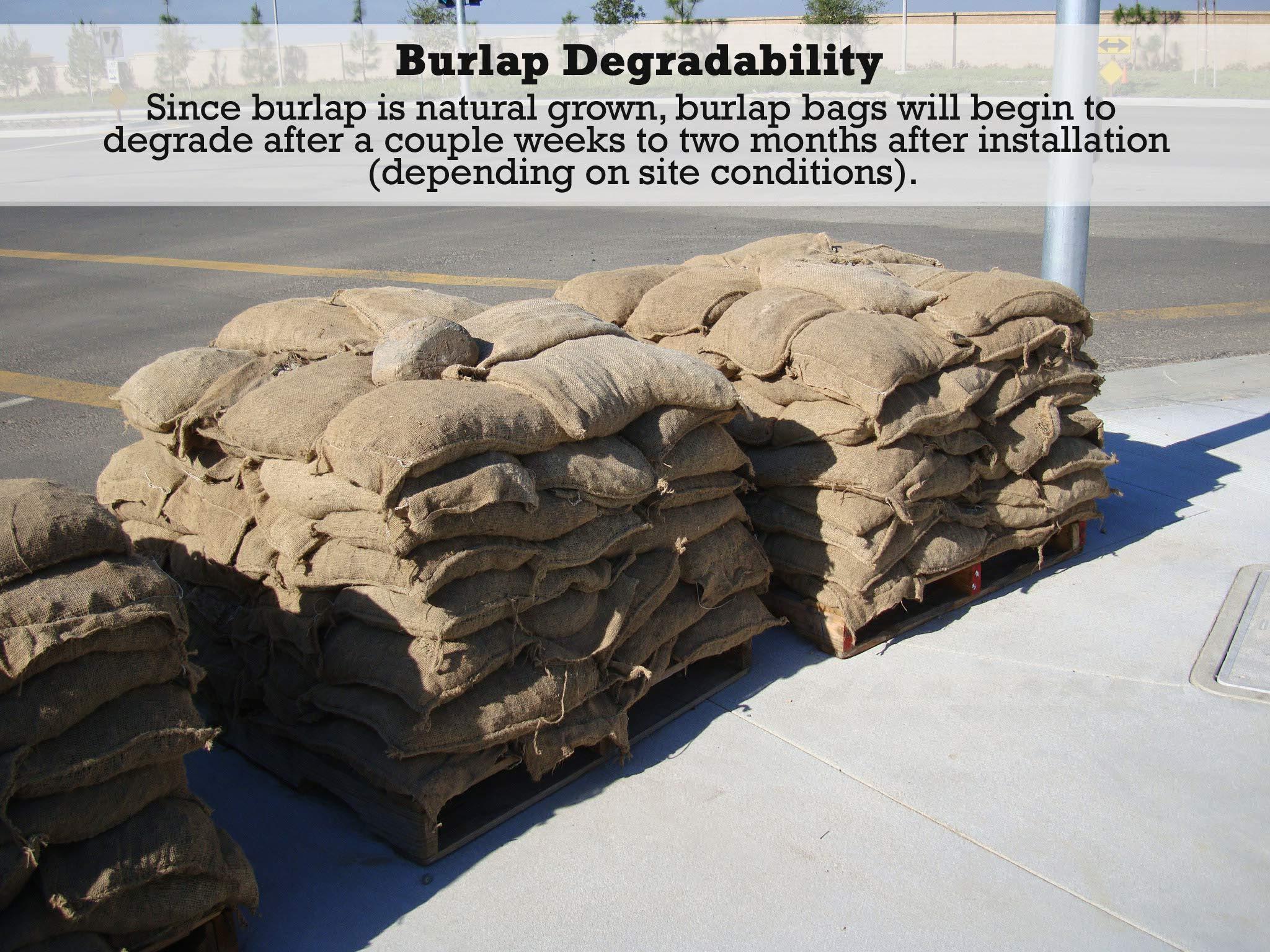 Sandbaggy Burlap Sand Bag - Size: 14'' x 26'' - Sandbags 50lb Weight Capacity - Sandbags for Flooding - Sand Bag - Flood Water Barrier - Water Curb - Tent Sandbags - Store Bags (5 Bags) by Sandbaggy (Image #5)