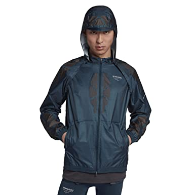 39a334690f16 Nike NikeLab Gyakusou AH1154-402 Navy Anthracite Brown Men s Hooded Running  Jacket (