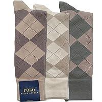 Polo Ralph Lauren Men's 3-pack Argyle Dress Socks (10-13, Khaki Assorted)
