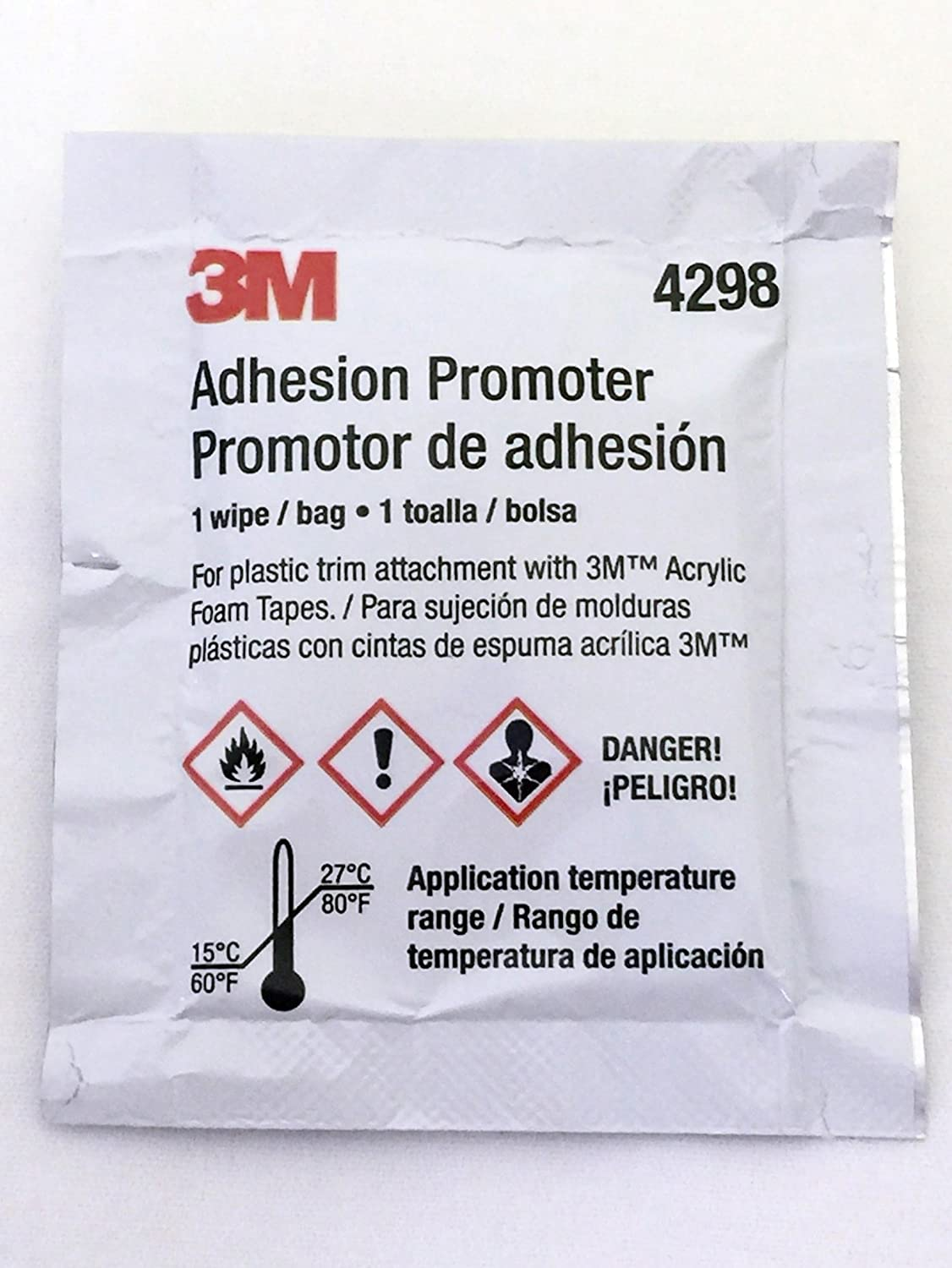 3M 4298 Adhesion Promoter, Sponge Applicator 25 Pack (25)
