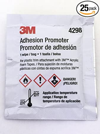 3M 4298 Adhesion Promoter, 25 Sponge Applicators (Choose 3, 5 or 25 Qty