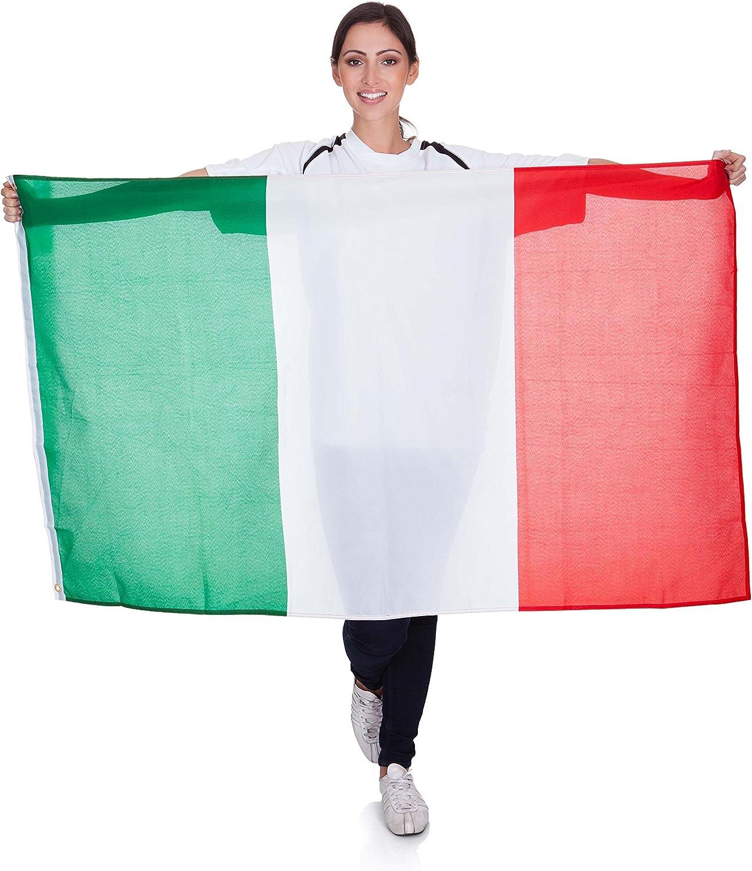 Bandera de Italia de tela Ciao 22016 150 x 90 cm color verde//blanco//rojo