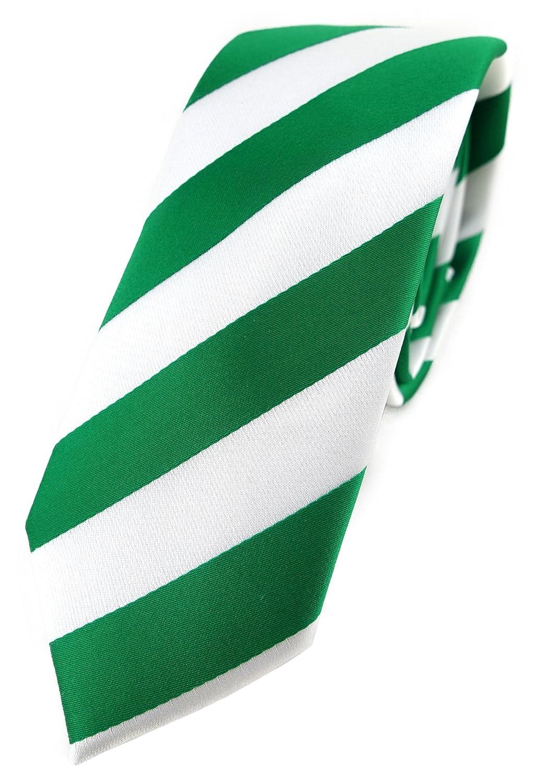 TigerTie - corbata estrecha - verde verde fluorescente blanco ...