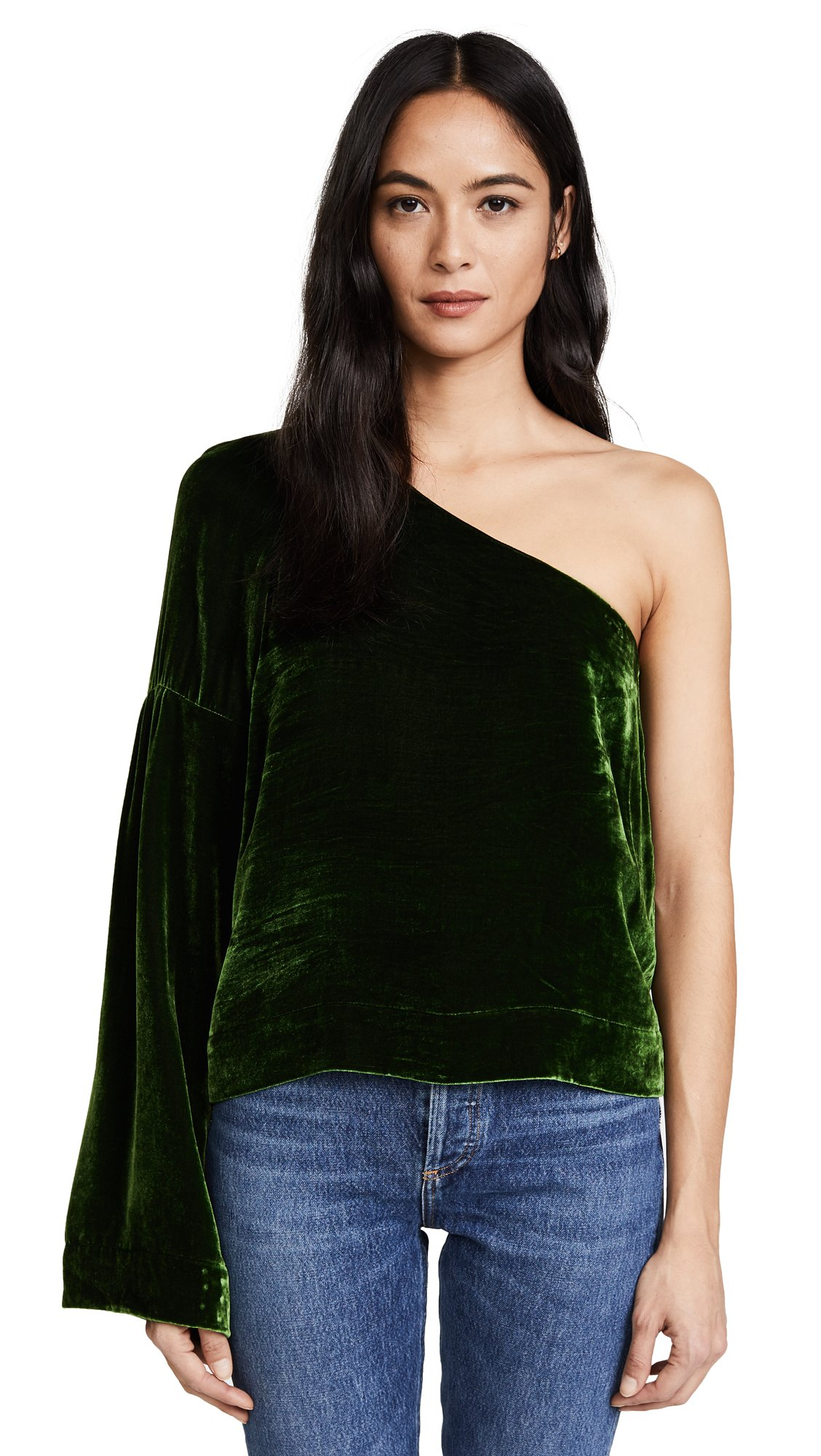 VEDA Women's Glass Top, Emerald Green, Small by VEDA