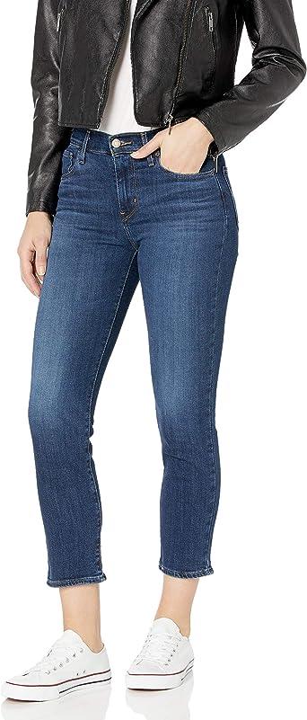 Amazon Com Levi S 724 Pantalones De Mezclilla De Cintura Alta Rectos Para Mujer Clothing