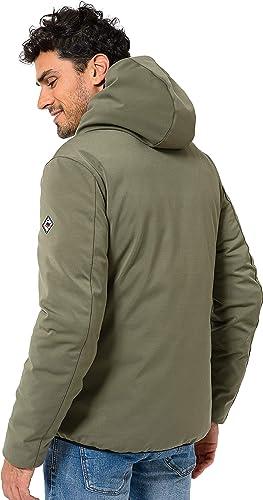 color verde militar impermeable y cortavientos Hot Buttered Chaqueta acolchada con capucha modelo Hurrycano tejido exterior el/ástico