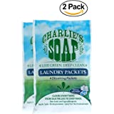 Charlie's Soap - Fragrance Free Laundry Packets - Travel size (2 Pack, 8 Total Loads)