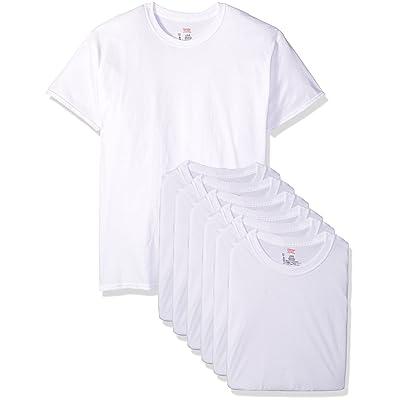 Hanes Men's Classics 6 Pack Crew Neck Tee at Men's Clothing store: Hanes T Shirts