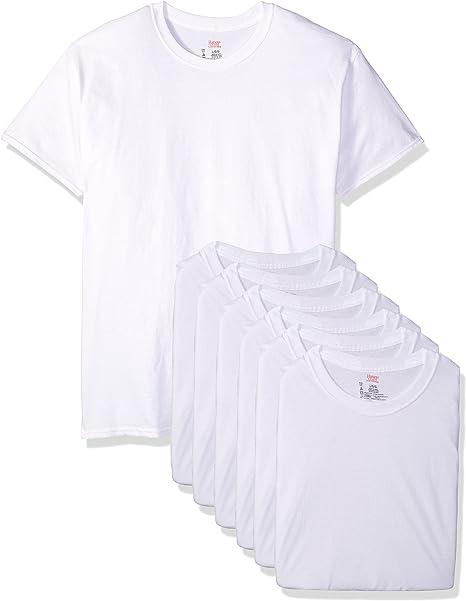 White Large OR Black Medium Hanes® Premium Men/'s 4 Pack Crew Neck T-Shirt