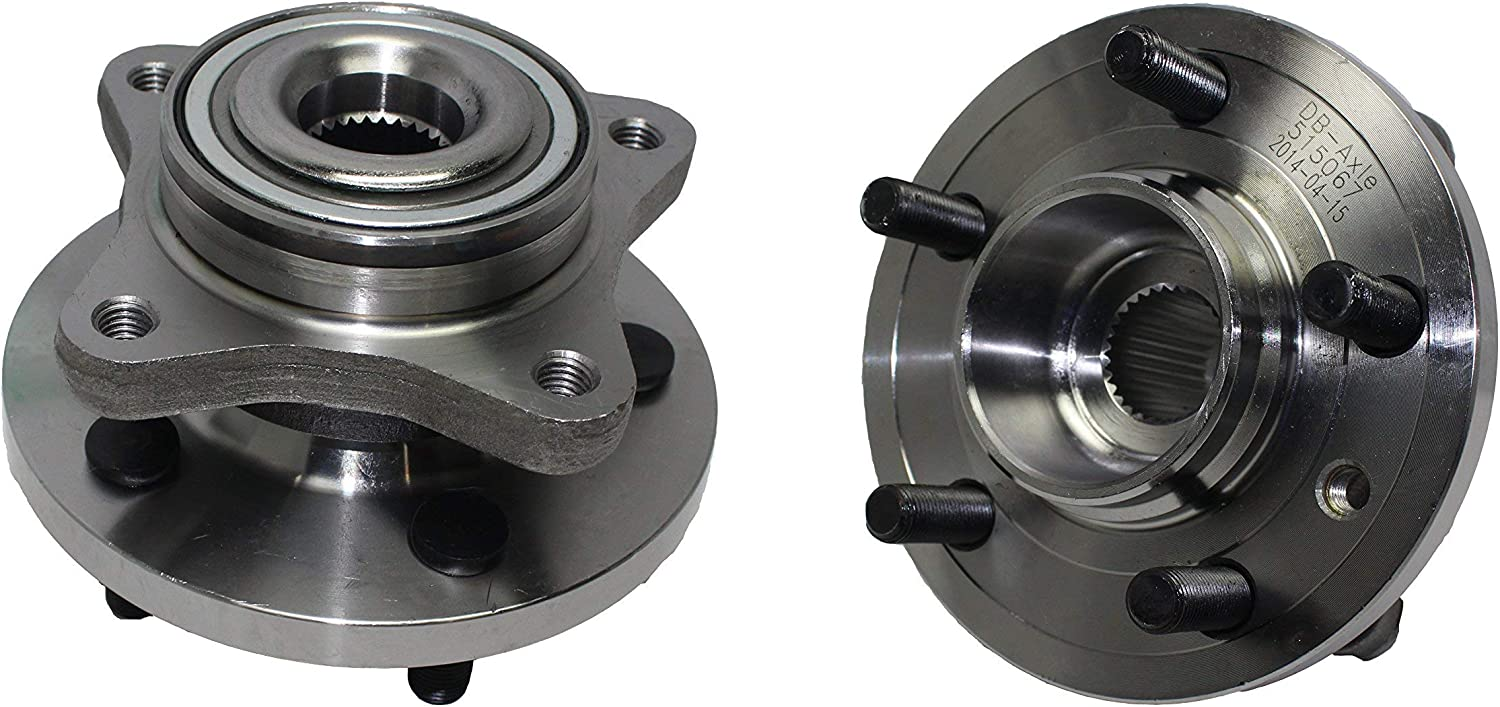 Brand New (Both) Front Wheel Hub and Bearing Assembly for 2005-2009 LAND ROVER LR3 - [2010-2016 LAND ROVER LR4] - 2006-2013 RANGE ROVER SPORT - 5 Lug - 515067 x2