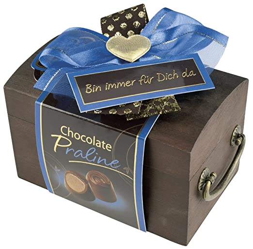 Pralinen Geschenkbox Aus Holz Pralinenschachtel Holztruhe Spruch
