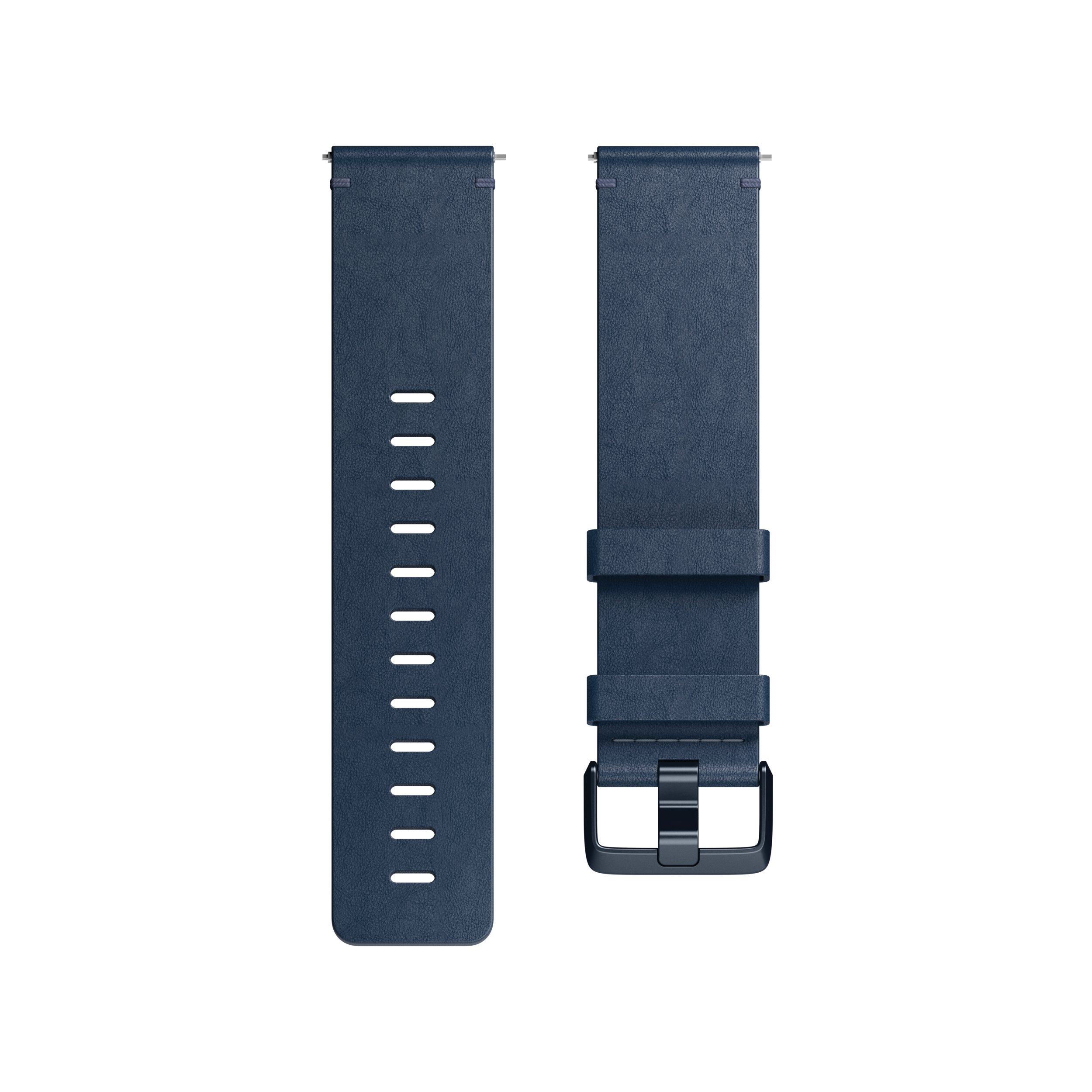 Fitbit Versa Family Accessory Band, Official Fitbit Product, Premium Horween Leather, Midnight Blue, Large by Fitbit