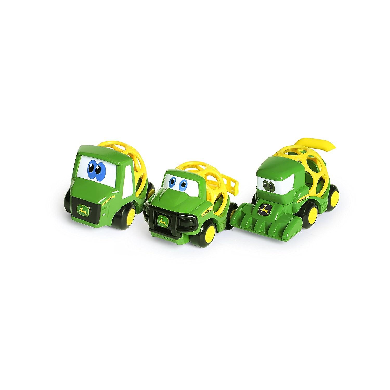 Oball Go Grippers John Deere Construction Crusiers Trailer Set Push Vehicles, Tough Ol' Trio