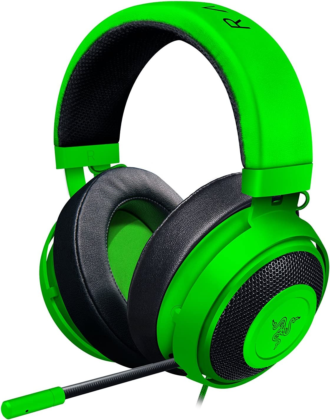 Razer Kraken Pro V2 Lightweight Aluminum Headband – Retractable Mic – In-Line Remote – Gaming Headset Works with PC, PS4, Xbox One, Switch, Mobile Devices – Green