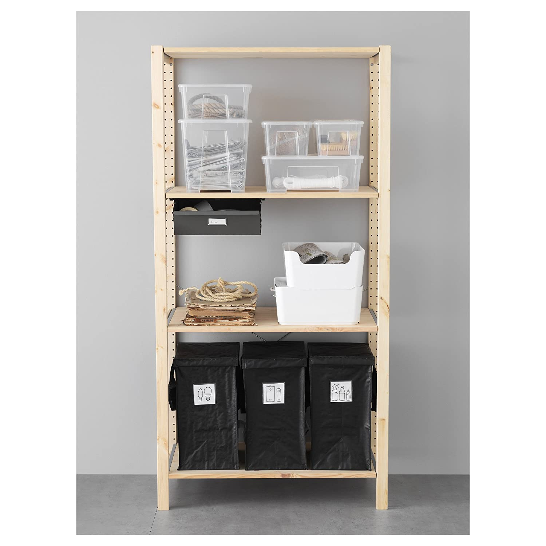 IKEA DIMPA reciclaje bolsa [2 unidades] para papel, plástico, metal o cristal con tapa: Amazon.es: Hogar