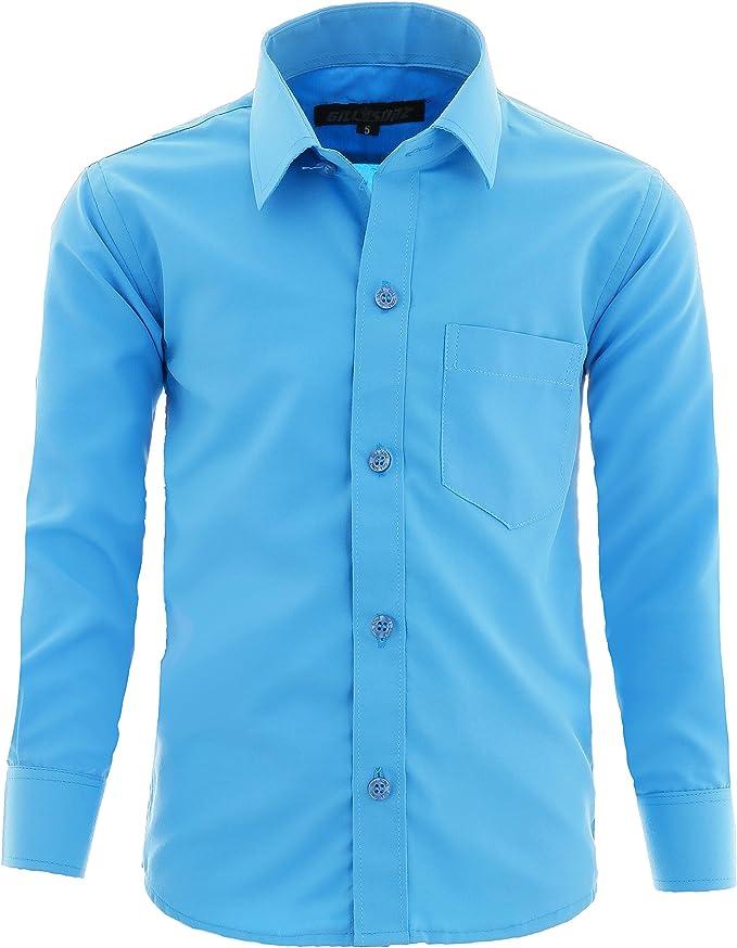 GILLSONZ - Camisa - Clásico - para niño: Amazon.es: Ropa y accesorios
