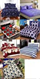 Urban Home Combo Glace Cotton King Size Double Bedsheet, Combo Set of 7 Bedsheet and 2 Pillow Each from Urban Home