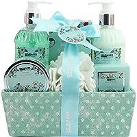 BRUBAKER Cosmetics Bade- und Dusch Set Feuchtigkeitspflege Kamille - 7-teiliges Geschenkset in dekorativer Box