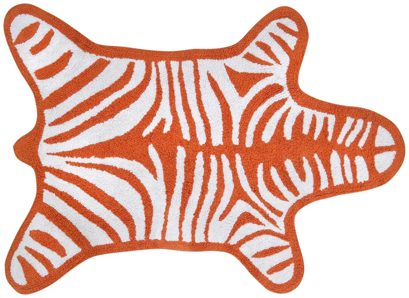 Jonathan Adler Zebra Reversible Bath Mat - Orange