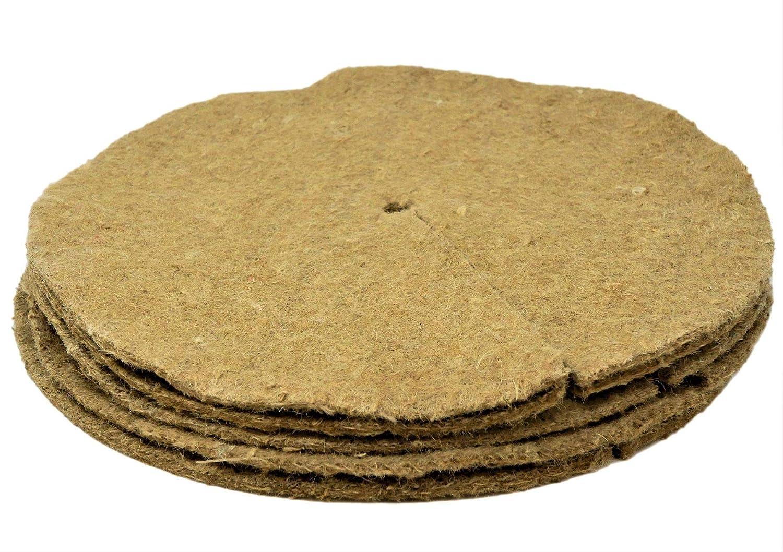 Alfombras de mantillo / polainas para árboles 35cm paquete de 10 ...