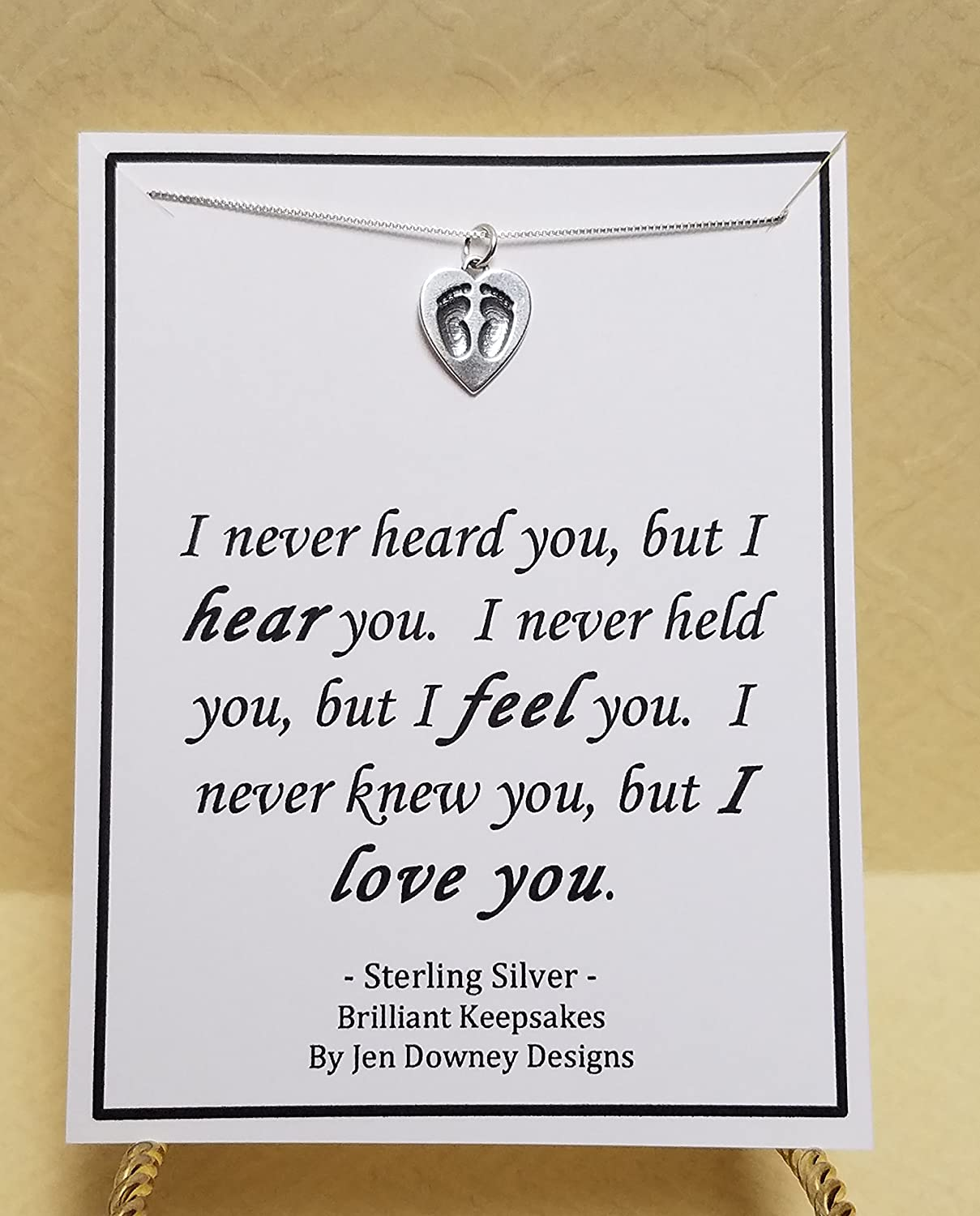 Amazon.com: Miscarriage Quote Sterling Silver Baby Feet ...