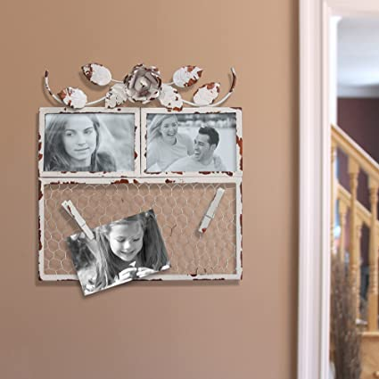 Amazon Com Fetco Home Decor Hopewell Double Collage Frame 12 X
