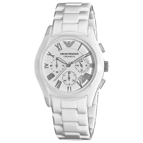 4d5de39f Emporio Armani Women's AR1403 Ceramic White Ceramic Dial Watch ...