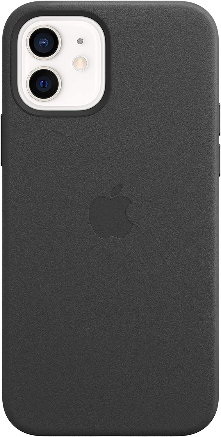 Apple Leather Case with MagSafe (for iPhone 12 and iPhone 12 Pro) - Black