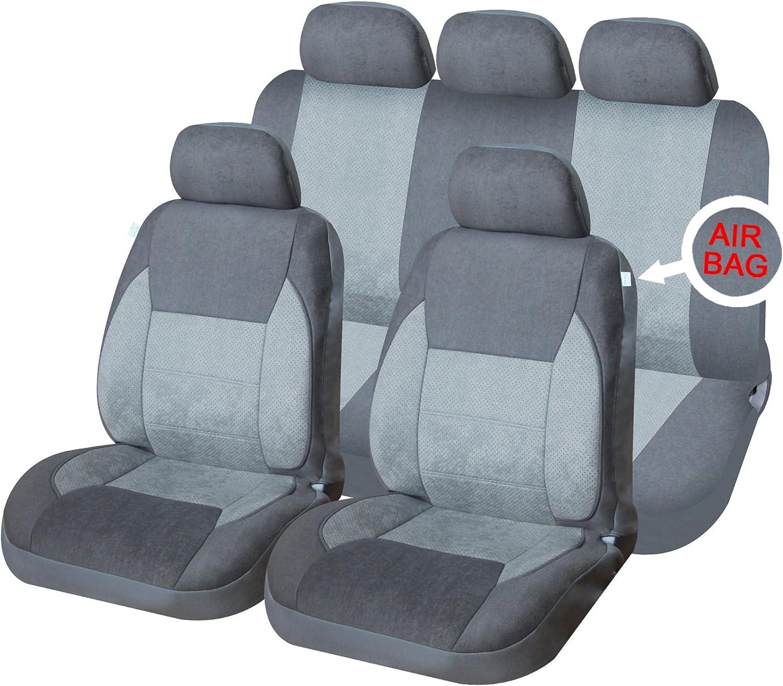 Car seat covers fit Opel Vectra black//grey full set
