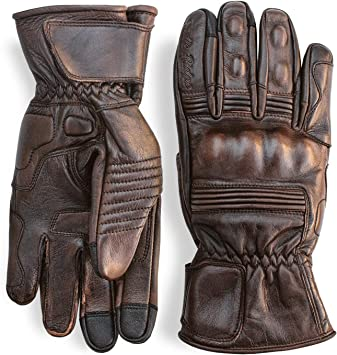Color : Brown, Size : S Mens Touchscreen Weaving Driving Motorcycle Leather Gloves,1 pairs Various style gloves