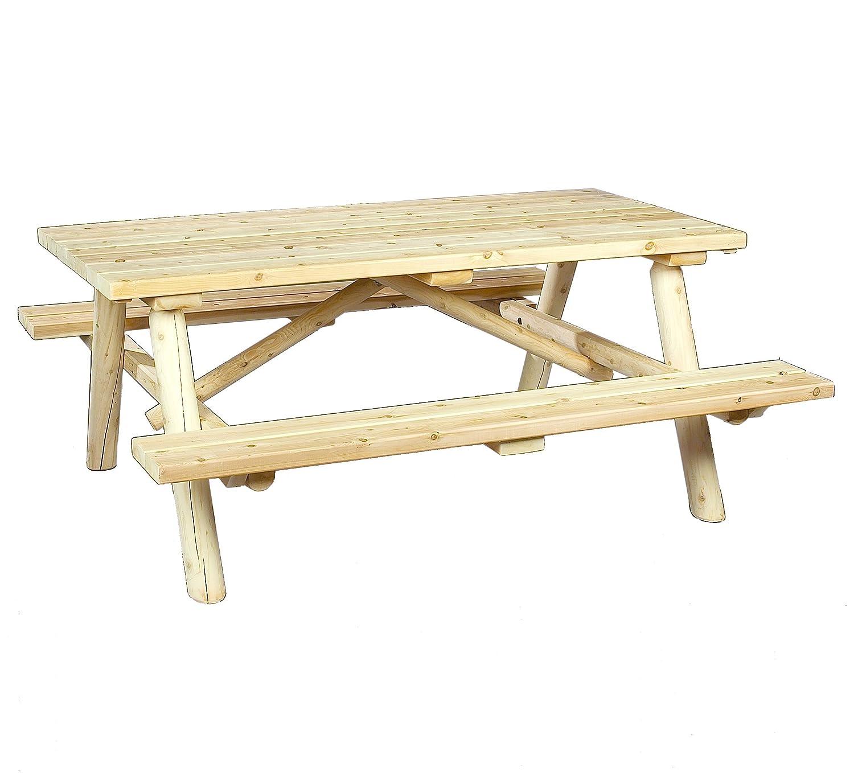 Amazon Cedarlooks Log Picnic Table Patio Lawn