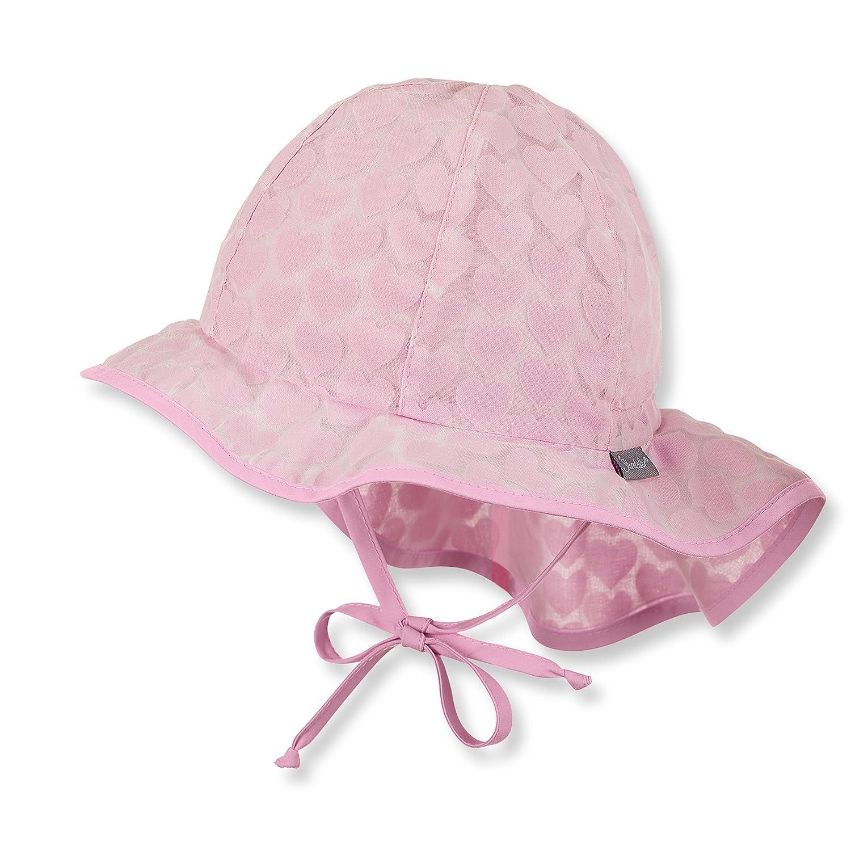 Sterntaler Mädchen Sommer Flapper Babyhut mit Nackenschutz in rosa