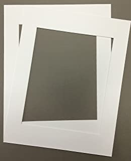 pack of 2 24x36 white picture mats with white core for 20x30 pictures