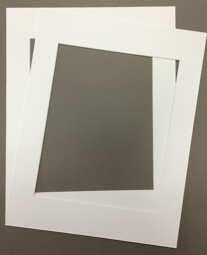 Pack Of 2 24x36 White Picture Mats With White Core, For 20x30 Pictures by Bux1 Picture Matting