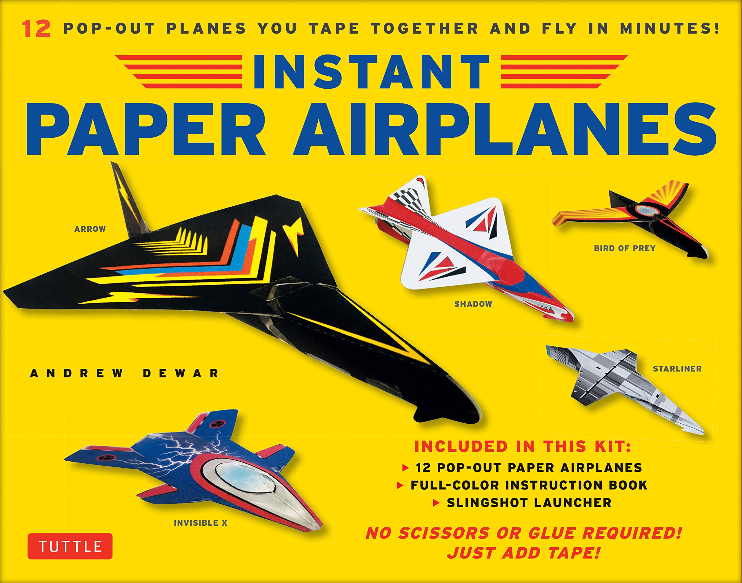 Instant Paper Airplanes Ebook: 12 Printable Airplanes You Tape Together and  Fly!