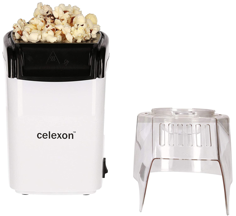 celexon máquina de palomitas de maíz sin aceite/bajo en grasa CinePop CP150-13x19x29cm - Peso: 900 g - blanco