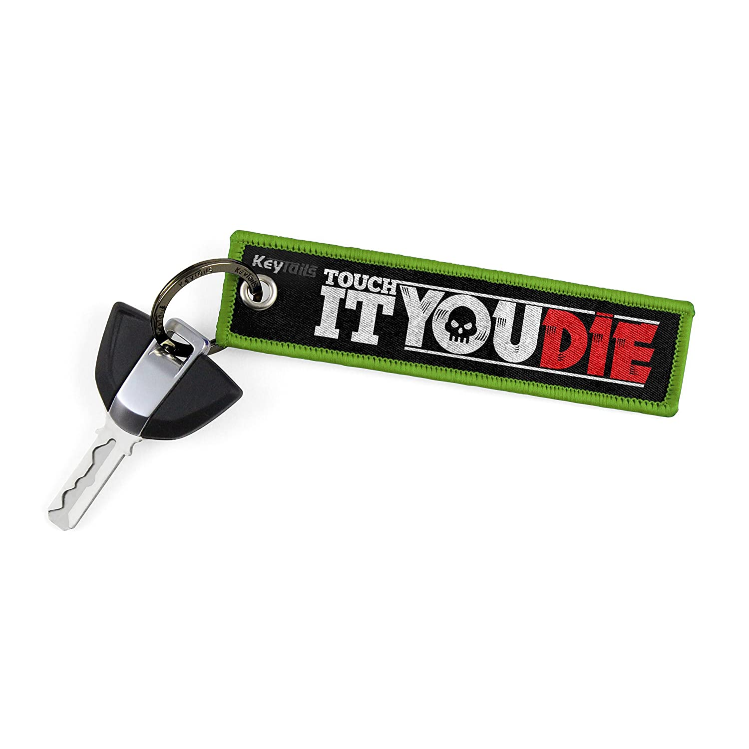 ATV KEYTAILS Keychains Scooter Touch It You Die Car Premium Quality Key Tag for Motorcycle UTV