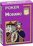 Cartes Modiano Jeu 484–Poker Cristallo, 4Index Violet
