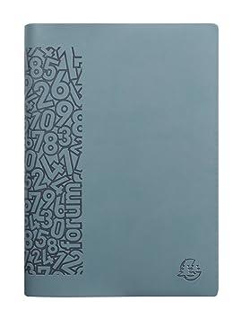 Exacompta Winner - Agenda escolar 2017-2018, día/página, color azul gris