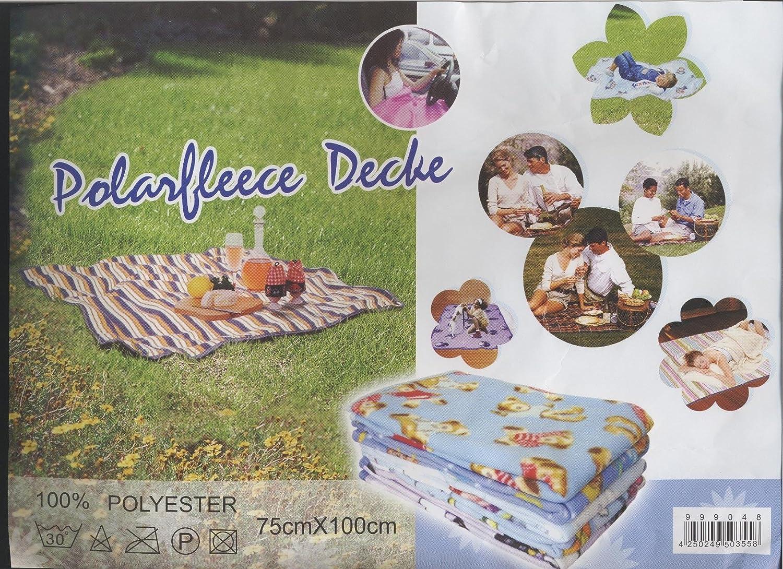 1 x Polarfleece-Decke Babydecke Fleecedecke verschieden Farben 75 x 100 cm