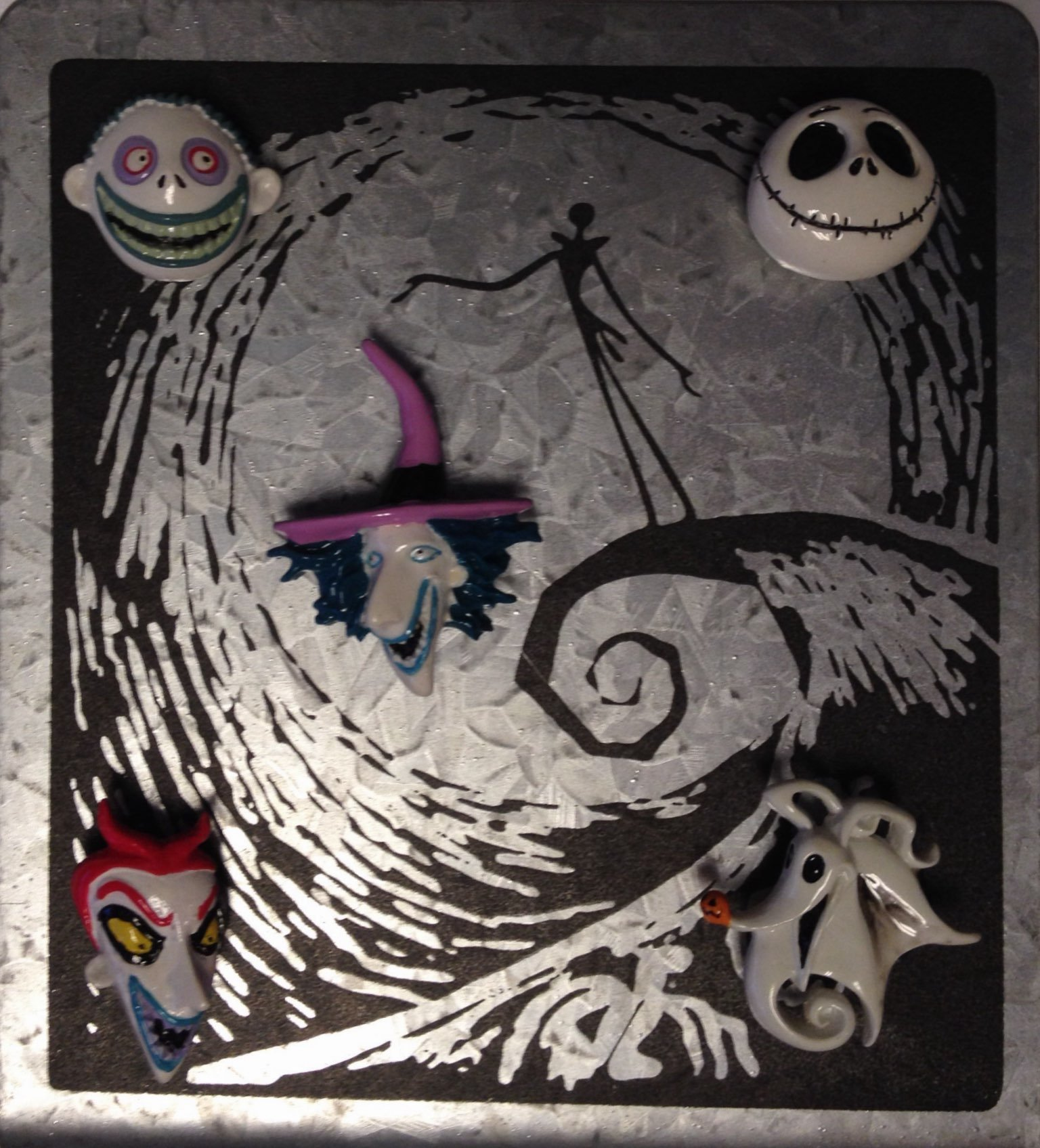 Nightmare Before Christmas Magnet Frame - Moveable