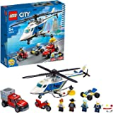 LEGO City Police Helicopter Chase 60243 Police Playset, LEGO Building Sets for Kids