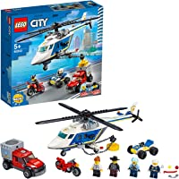 LEGO City Police 60243 Police Helicopter Chase Building Kit (212 Pieces)