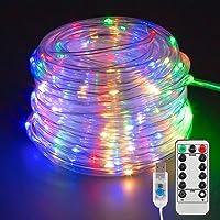 Manguera de Luces Exterior, 22M 200 LED Cadena de Luces,Manguera de luz LED Colores 8 Modos con Control Remoto para…