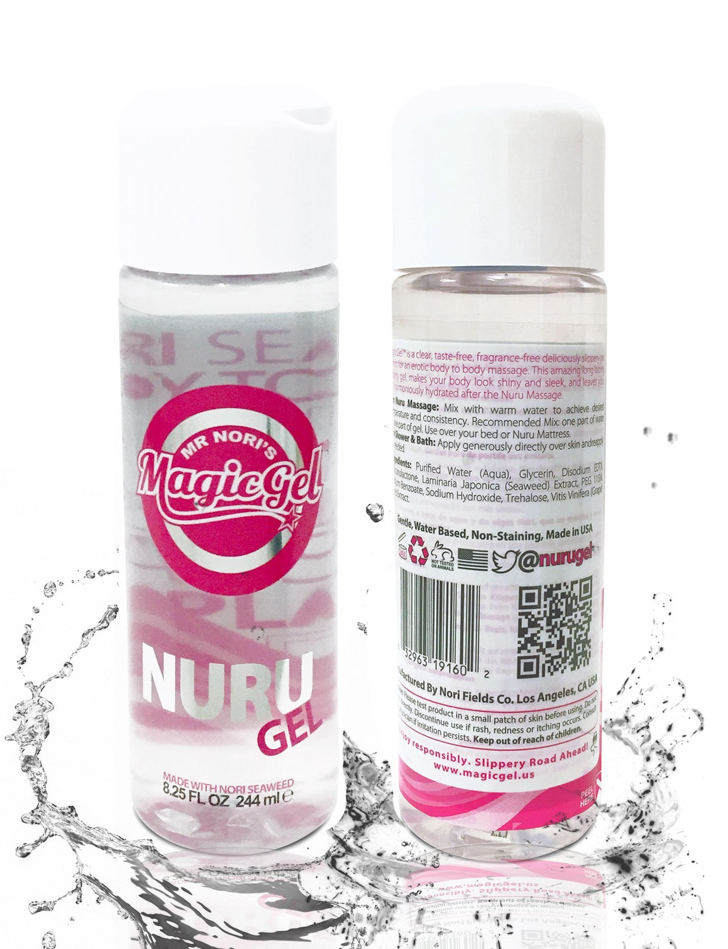 Nuru Massage Authentic Gel 8.25 Ounces by Magic Gel