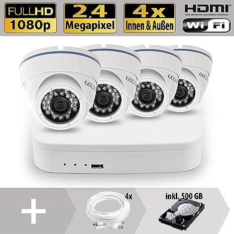 Vídeo de vigilancia Set 4 canal HDCVI DVR 4 al aire libre Cámaras de vigilancia Mpx