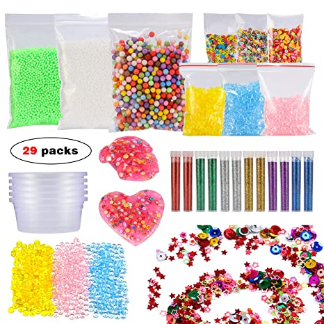 glonova 29 PACKS Slime Making Kits, DIY Art Craft para casera Limo Set, como